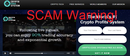 Crypto Edge System Review - Scam Cryptocurrency Trading